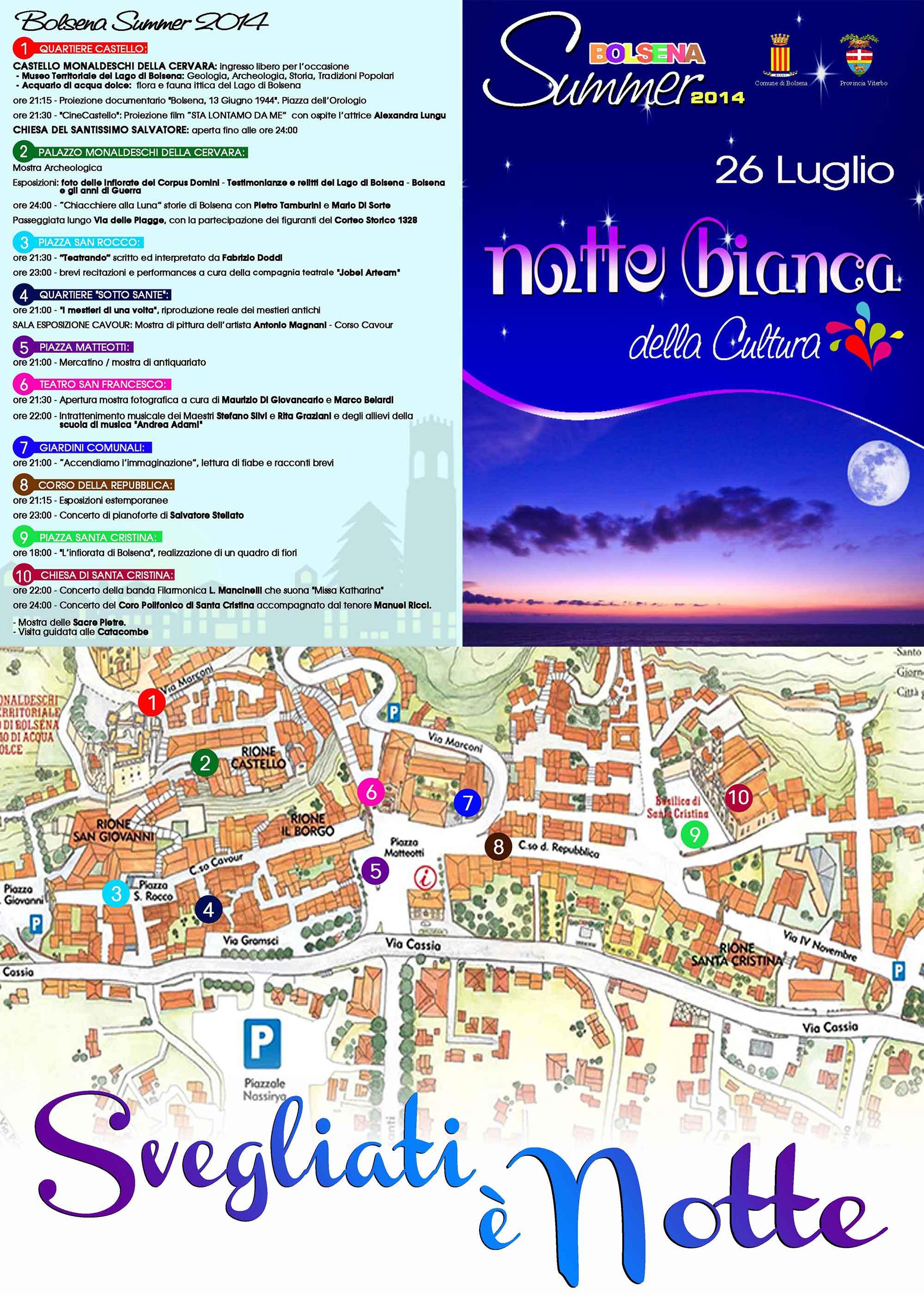 la notte bianca della cultura | visit bolsena - turismo eventi ... - Soggiorno Lago Di Bolsena