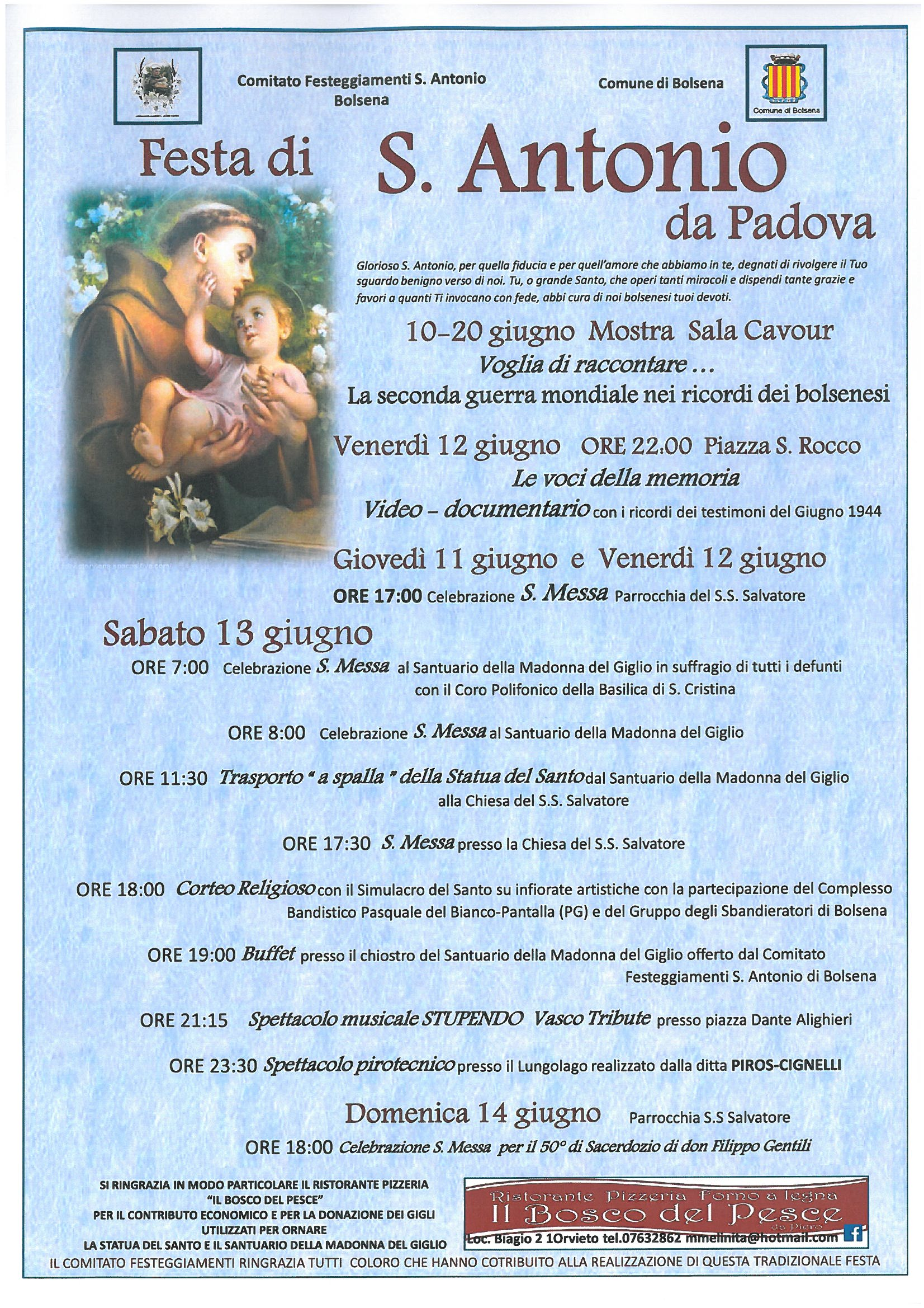 festa di s.antonio | visit bolsena - turismo eventi itinerari lago ... - Soggiorno Lago Di Bolsena