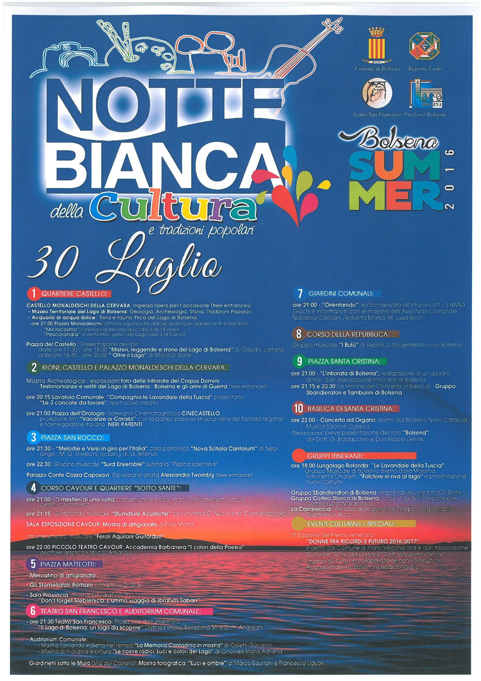 notte bianca della cultura | visit bolsena - turismo eventi ... - Soggiorno Lago Di Bolsena