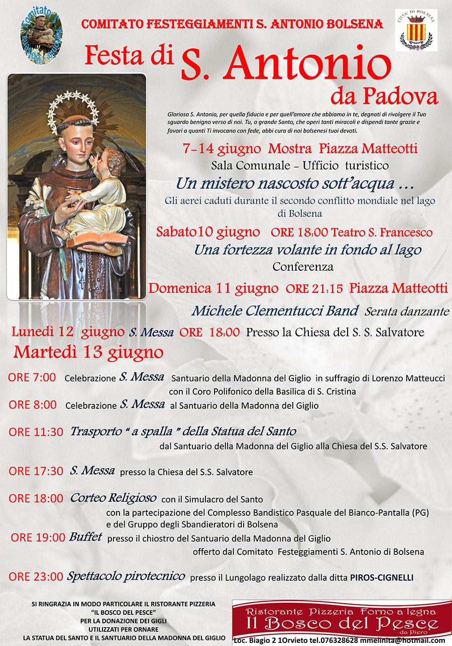 festa di s.antonio da padova | visit bolsena - turismo eventi ... - Soggiorno Lago Di Bolsena